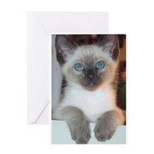 Unique Siamese cats Greeting Card