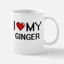 I Love My Ginger Digital design Mugs