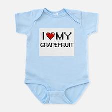 I Love My Grapefruit Digital design Body Suit