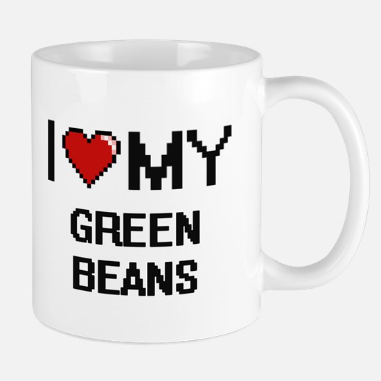 I Love My Green Beans Digital design Mugs