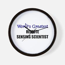 Worlds Greatest REMOTE SENSING SCIENTIST Wall Cloc