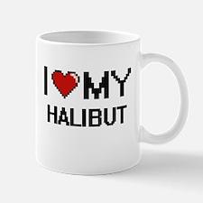 I Love My Halibut Digital design Mugs