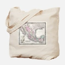 Vintage Map of Mexico (1855) Tote Bag