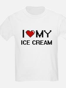 I Love My Ice Cream Digital design T-Shirt