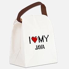 I Love My Java Digital design Canvas Lunch Bag