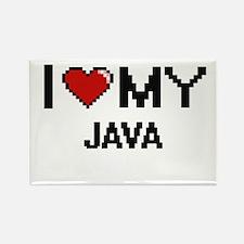 I Love My Java Digital design Magnets