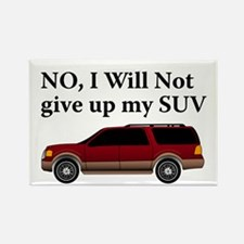 Won't Give Up SUV Rectangle Magnet