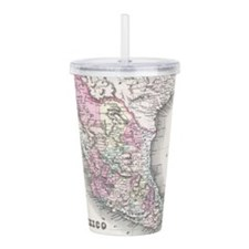 Vintage Map of Mexico Acrylic Double-wall Tumbler