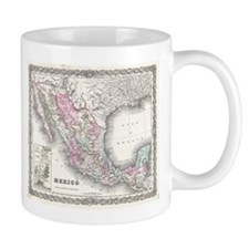 Vintage Map of Mexico (1855) Mugs