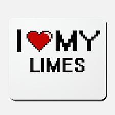 I Love My Limes Digital design Mousepad