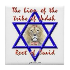 Lion Of The Tribe Of Judah Tile Coaster