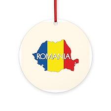 Map of Romania Ornament (Round)