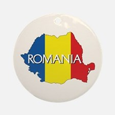 Map of Romania Ornament (Round)