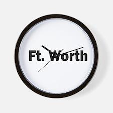 Ft. Worth Wall Clock