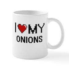 I Love My Onions Digital design Mugs