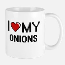 I Love My Onions Digital design Mugs