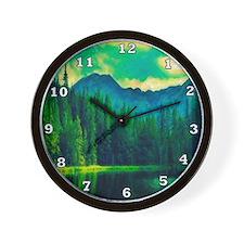 Mountain Pines Wall Clock