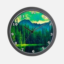 Mountain Pines Wall Clock