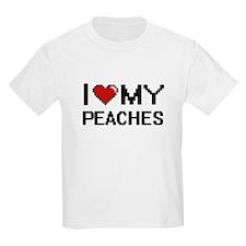 I Love My Peaches Digital design T-Shirt