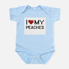 I Love My Peaches Digital design Body Suit