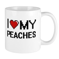 I Love My Peaches Digital design Mugs