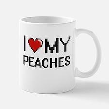 I Love My Peaches Digital design Mugs