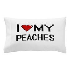 I Love My Peaches Digital design Pillow Case