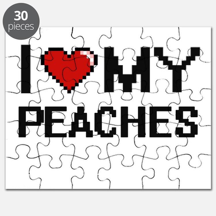 I Love My Peaches Digital design Puzzle