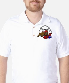 FIRE BULL DOG Golf Shirt