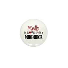 Madly In Love (Police Officer) Mini Button (10 pac