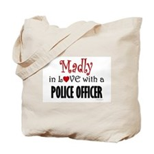Madly In Love (Police Officer) Tote Bag