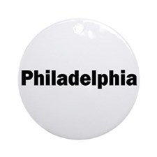 Philadelphia Ornament (Round)