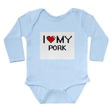 I Love My Pork Digital design Body Suit