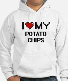 I Love My Potato Chips Digital d Hoodie