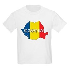 Map of Romania T-Shirt