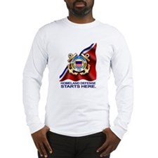 Unique Us coast guard friends and family Long Sleeve T-Shirt