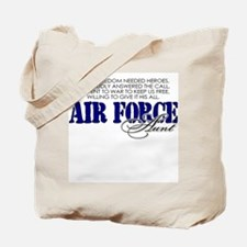 When freedom needed heroes: USAF Aunt Tote Bag