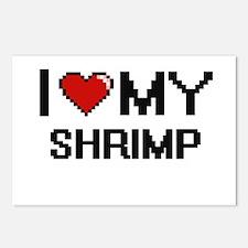I Love My Shrimp Digital Postcards (Package of 8)
