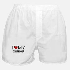 I Love My Shrimp Digital design Boxer Shorts