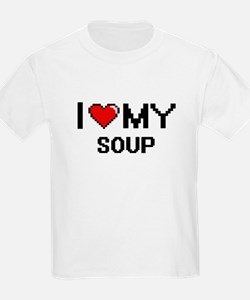 I Love My Soup Digital design T-Shirt