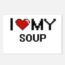 I Love My Soup Digital de Postcards (Package of 8)