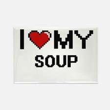 I Love My Soup Digital design Magnets