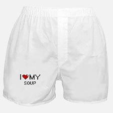 I Love My Soup Digital design Boxer Shorts