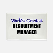 Worlds Greatest RECRUITMENT MANAGER Rectangle Magn