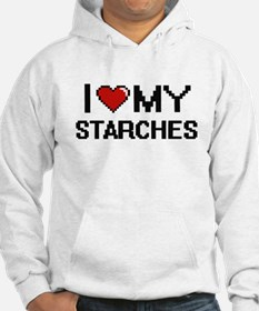 I Love My Starches Digital desig Hoodie