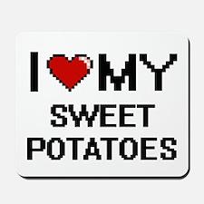 I Love My Sweet Potatoes Digital design Mousepad