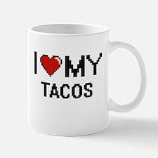 I Love My Tacos Digital design Mugs