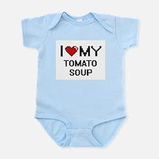 I Love My Tomato Soup Digital design Body Suit