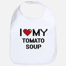 I Love My Tomato Soup Digital design Bib