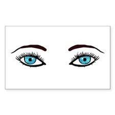 Blue Eyes Rectangle Decal